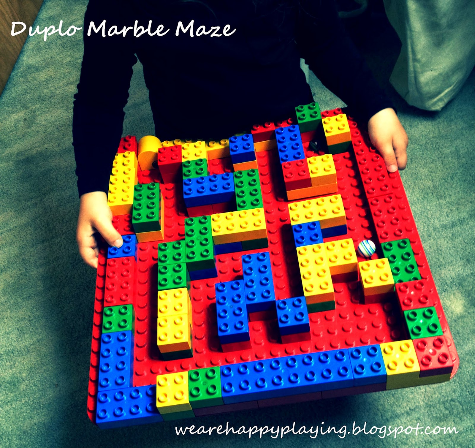 We Are Happy Playing How To Build A Duplo Marble Maze