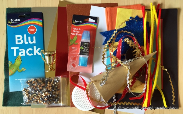 This month's Bostik craft box for the Olympic-themed challenge
