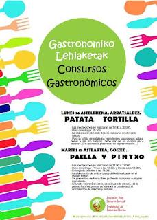 Cartel de los concursos gastronómicos de las fiestas de El Regato