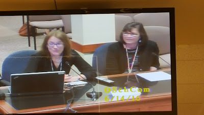 photo from the monitor in the Council Chambers