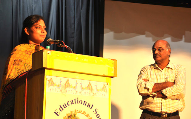 Salin Amanda Louis speaks - Prime Point Srinivasan looks on