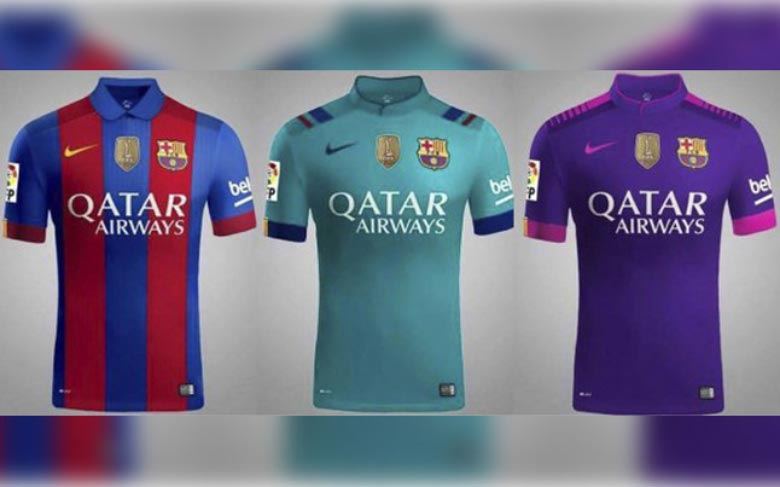 new styles 9dce2 b88d0 Sport' Leaks Barcelona 16-17 Home, Away and Third Kits ...