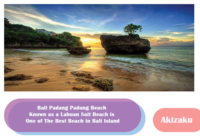 Bali Padang Padang Beach Known as a Labuan Sait Beach is One of The Best Beach in Bali Island