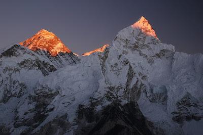 Everest coucher soleil