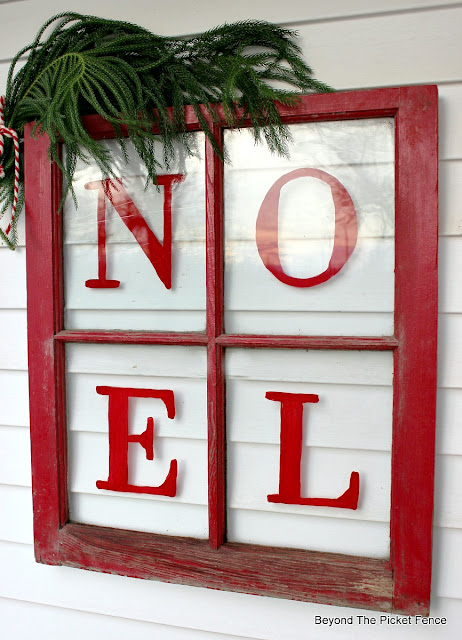 Noel, old window, Christmas decor, https://goo.gl/BcyJKv
