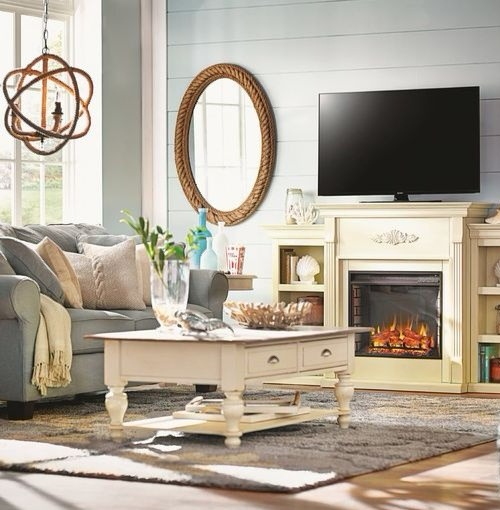 Rope Mirror Decorating Ideas for Living Room