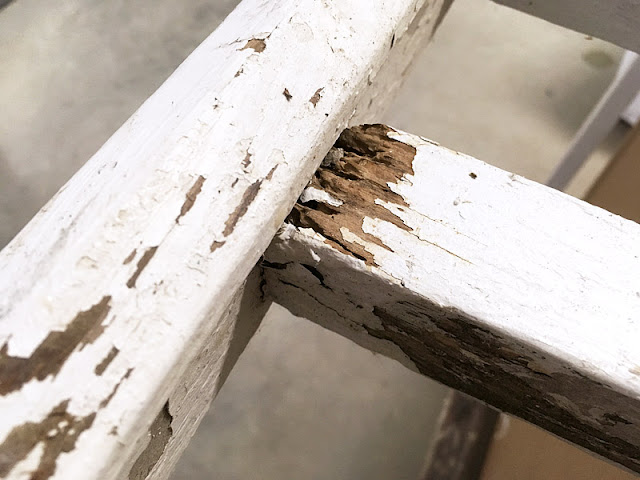 rotted spindle, rotted porch railing, rot fix porch painting