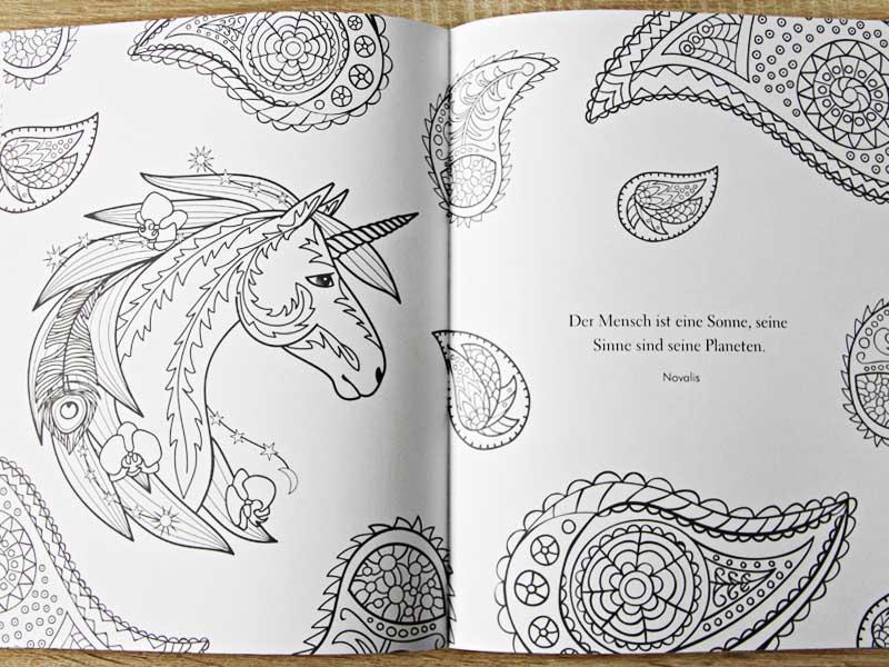 Kirschkuchen: [Review] Das Einhorn Malbuch