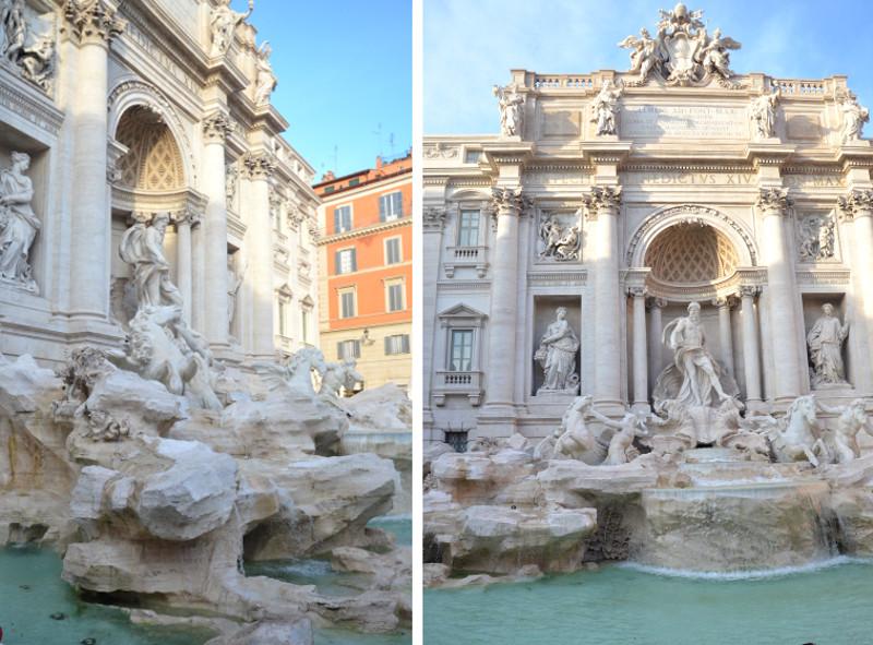 Włochy, Rzym, weekend, Fontanna di Trevi, piękna architektura, fontanna, piękna, woda, wyjazd, zwiedzanie