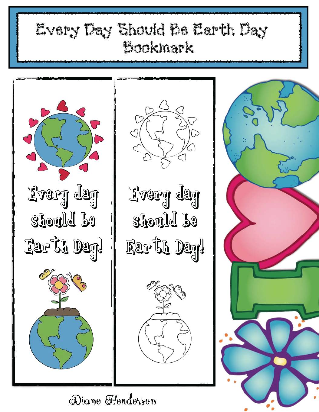Earth Day Bookmark