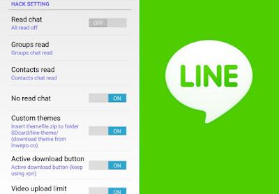 Cara menghilangkan tanda read di Line