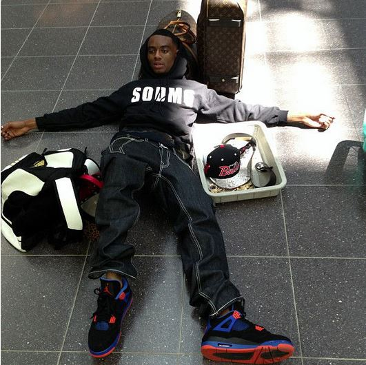 0a3cbcd49af4 Celeb Sneaker Game  Soulja Boy Wearing Air Jordan Retro 4