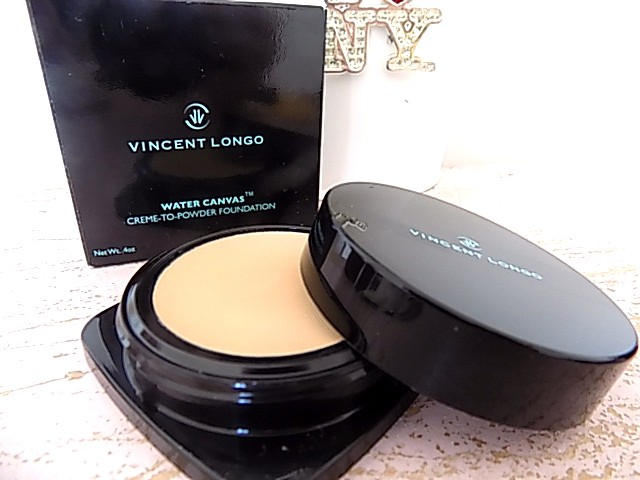 Vincent Longo Cosmetics. Water Canvas Base | Cream to Powder Foundation | Sheer Pigment Lipstick