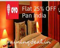 OYO Rooms Flat 25% off on Hotels (Pan India) Couple with local id's allowed