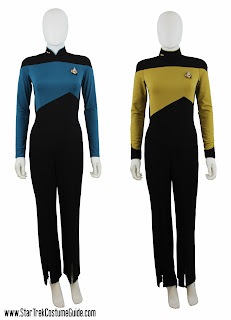 Back-zipping TNG jumpsuits