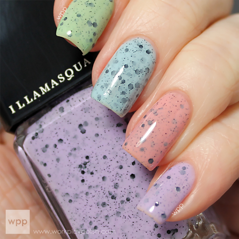 Illamasqua Speckled Nail Varnish: Scarce, Speckle, Mottle & Fragile (work / play / polish)