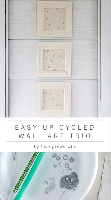 Easily transform old artwork into something new! Check out this super cute DIY artwork from LoveGrowsWild.com #diy #art #decor