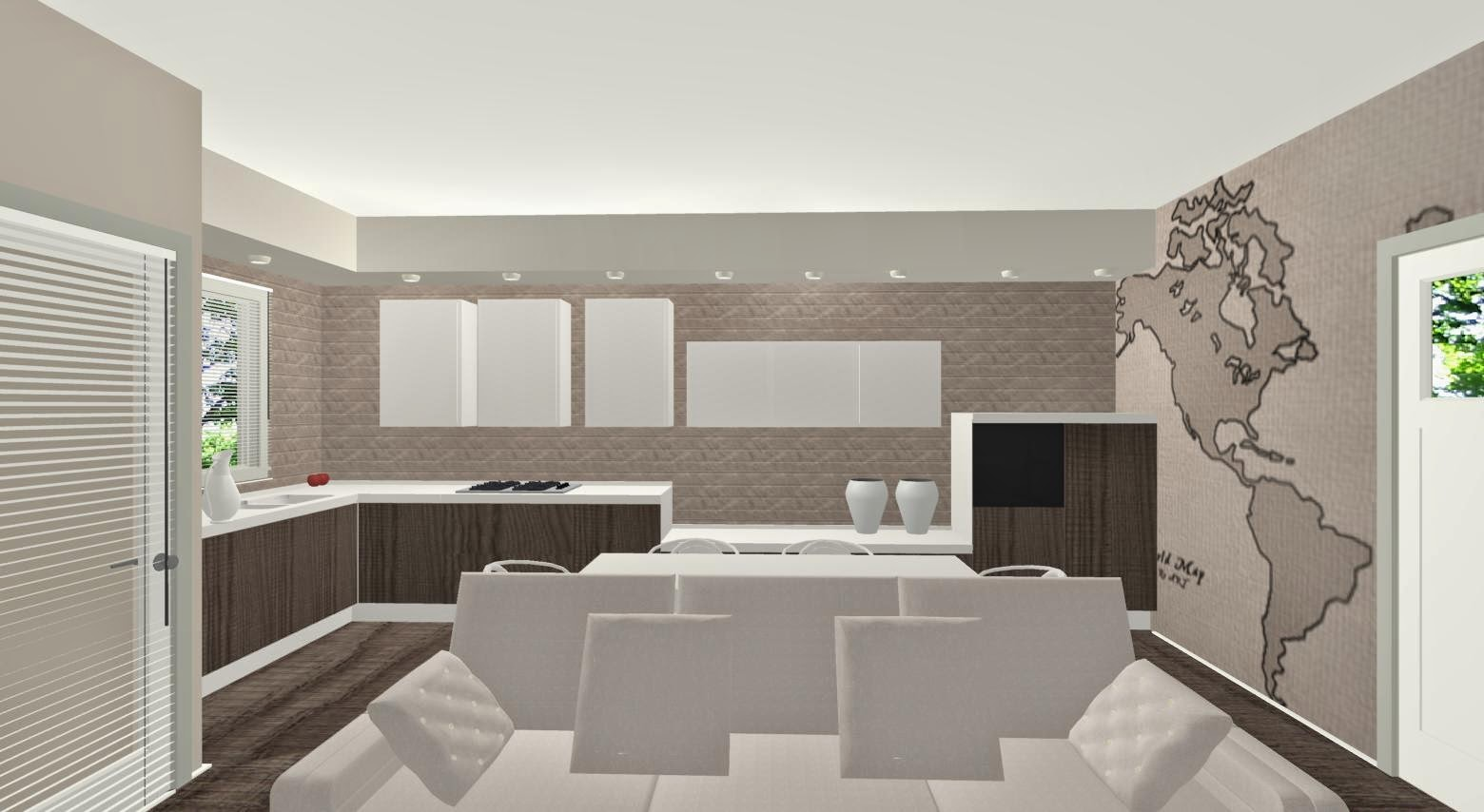 Arredare un ambiente unico for Ingresso soggiorno arredare