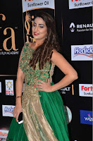Manjusha in Beautiful Sleeveless Green Anarkali dress at IIFA Utsavam Awards 21.JPG