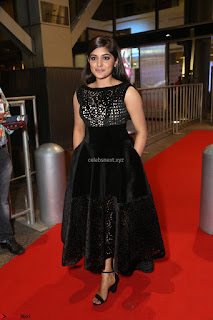 Niveda Thomas Black Sleeveless Cute Dress at 64th Jio Filmfare Awards South 2017 ~  Exclusive 131.JPG