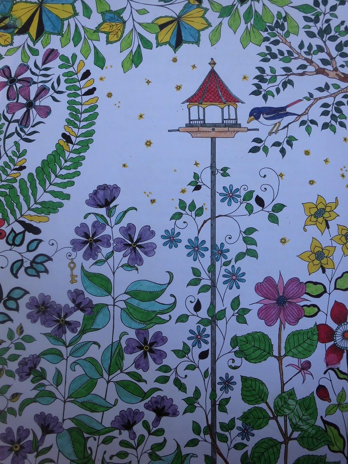 Estilo y hogar mis dibujos en el libro el jard n secreto for El jardin secreto johanna basford
