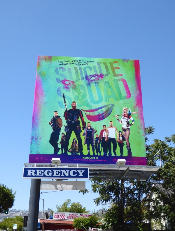 Suicide Squad movie billboard