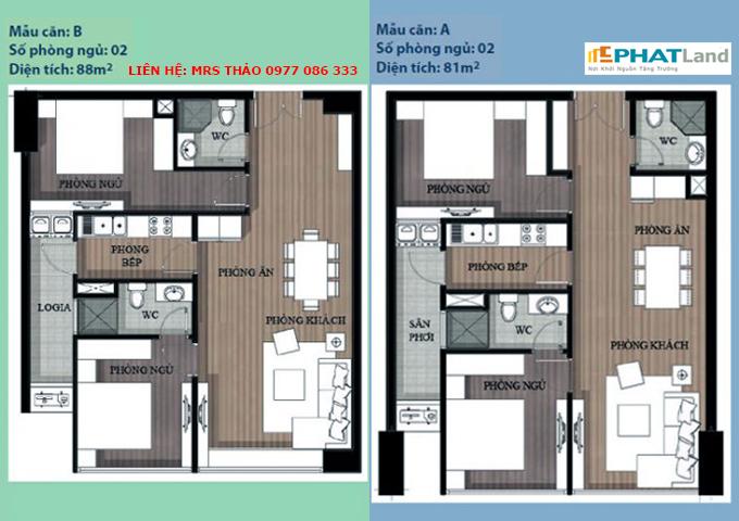 mẫu căn hộ 2 phòng ngủ tại chung cư artemis, ban chung cu artemis