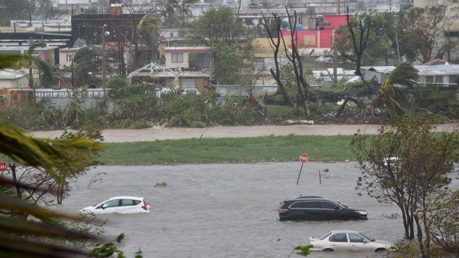 مركز الأعاصير: الإعصار ماريا سيتحول لعاصفة مدارية الثلاثاء أو الأربعاء