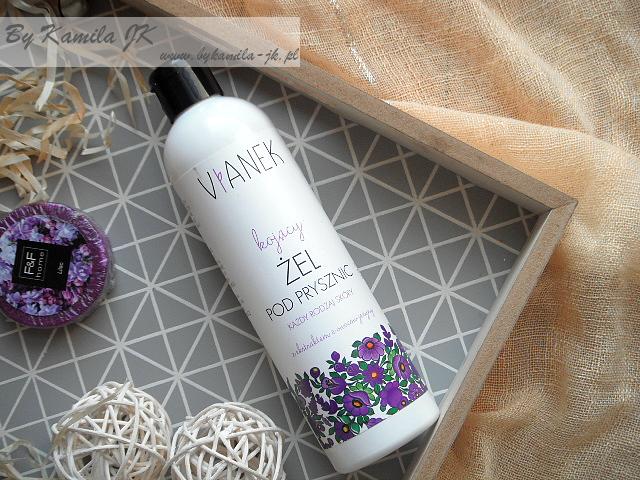 Vianek fioletowy kojący żel pod prysznic naturalne polskie kosmetyki