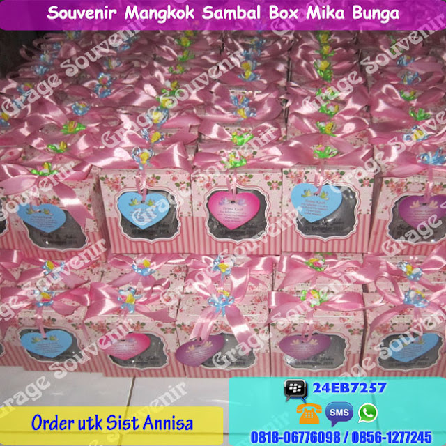Souvenir Sambal Box Mika Bunga