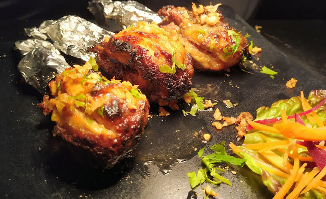 Dinner ideas chicken Tangdi kebab serving plate Food Recipe