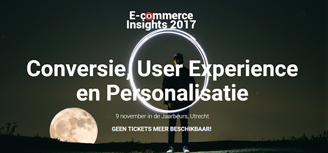 E-commerce Insights programma 2017 en 2018: Conversie, User Experience en Personalisatie.