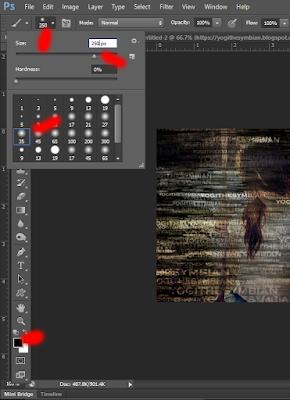 Teknik Typography Portrait Photoshop