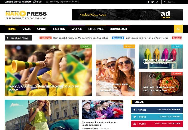 Nanopress Responsive Blogger Template