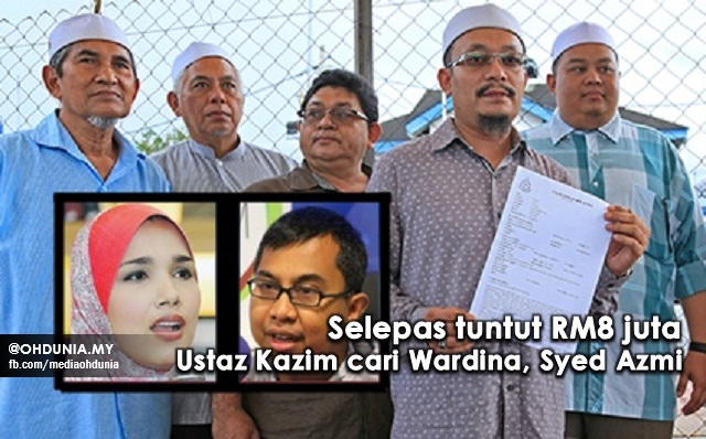 Setelah Tuntut RM8 Juta, Ustaz Kazim Cari Wardina, Syed Azmi