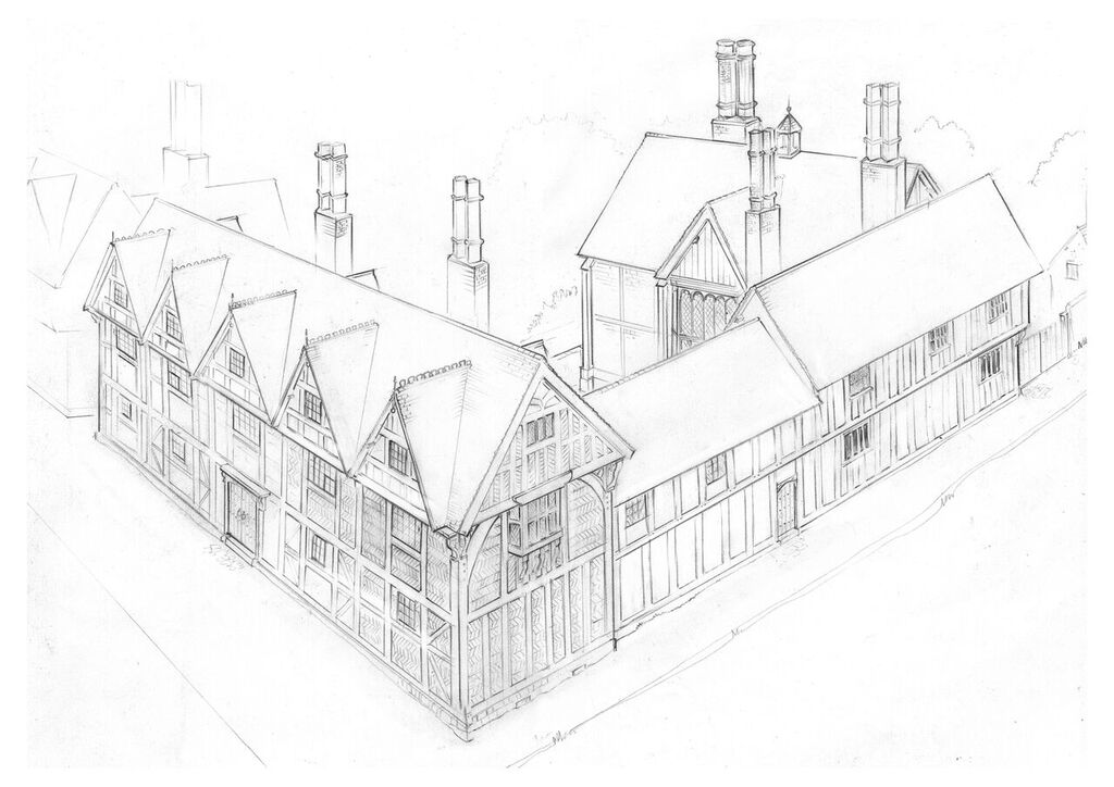 Drawing of New Place - motherdistracted.co.uk