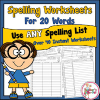 Spelling Lists for 20 Words