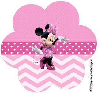 Coqueta Minnie en Rosa: Wrappers y Toppers para Cupcakes para Imprimir Gratis.