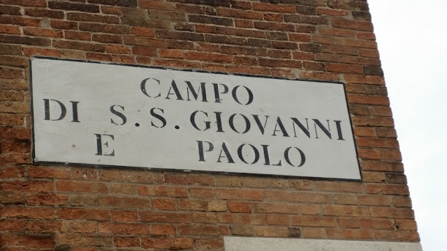 Campo San Giovanni e Paolo wall sign The Venice Experience blog