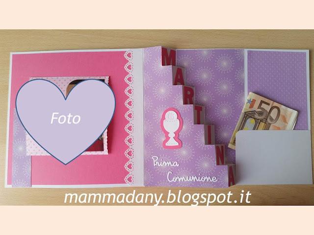 Taschina portasoldi card Prima Comunione femmina