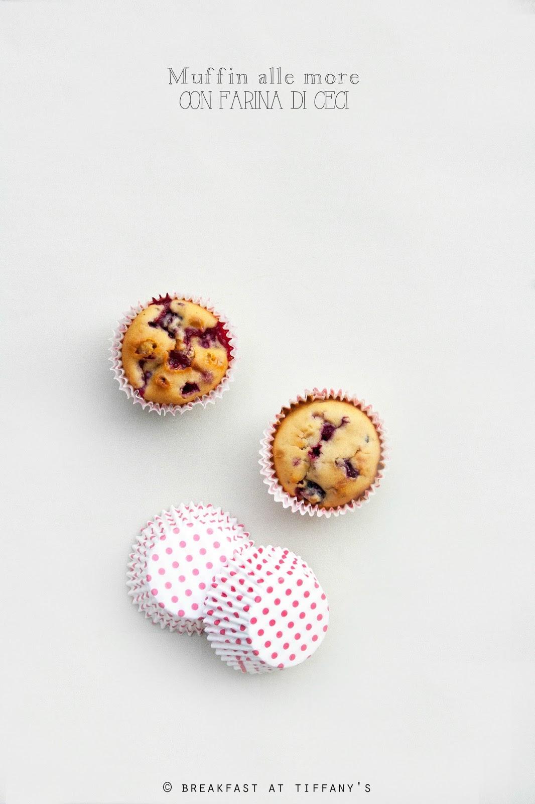 Muffin alle more con farina di ceci