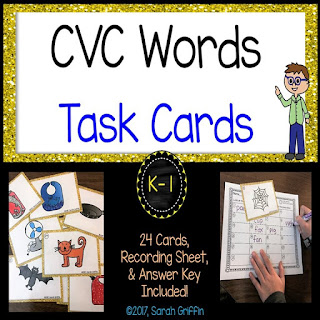 https://www.teacherspayteachers.com/Product/CVC-Words-Task-Cards-SCOOT-game-2975481