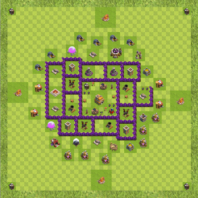War Base Town Hall Level 7 By Kadiya (Act TH 7 Layout)