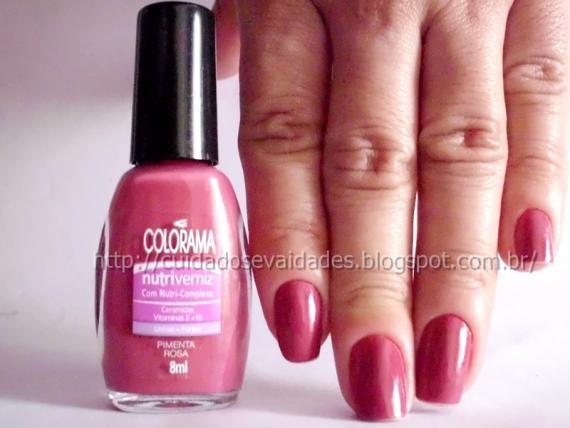 Esmalte Pimenta Rosa da Colorama