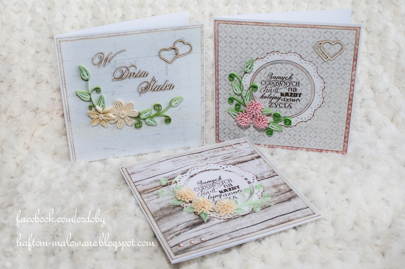 Kartki ślubne Quilling Handmade Zblogowani