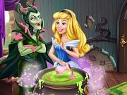 Have a great time playing this new Disney game called Aurora Spell Rivals on GamesGirlGames.com. Aurora wants to break the spell Maleficent put her under and to achieve this she must ruin the evil fairy's potion. Help the princess add a secret ingredient in the cauldron, while Maleficent is busy and break the spell!