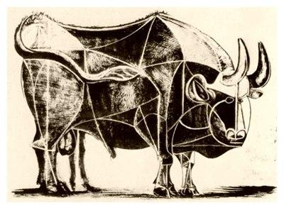 Toro número 4 de Picasso
