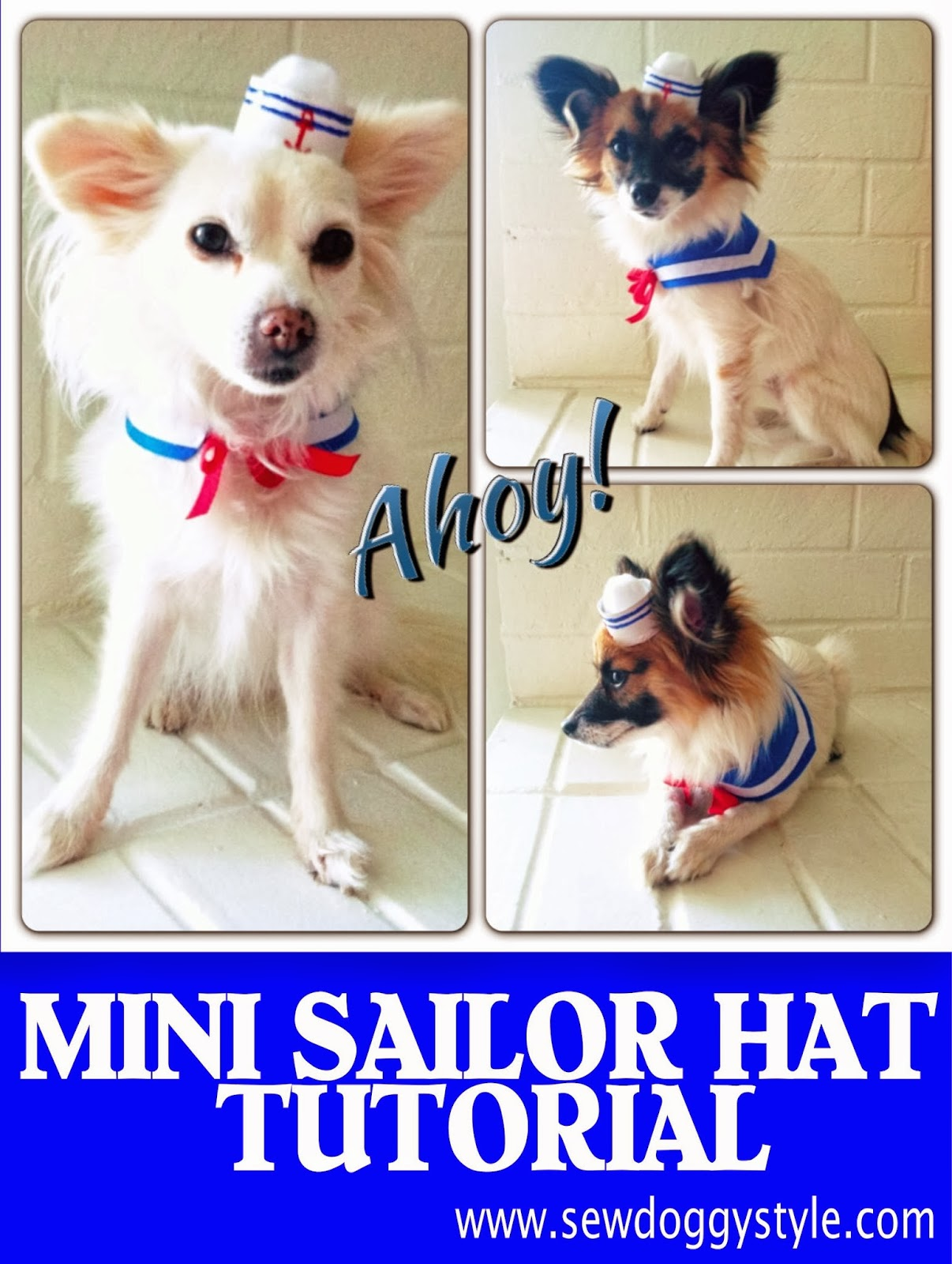 DIY Mini Sailor Hat  sc 1 st  Sew Doggy Style & Sew DoggyStyle: October 2013