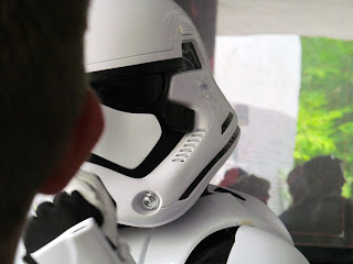 Stormtrooper talking to crowd at Hollywood Studios Orlando