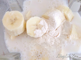 Smoothie banane sans lactose - Baomix